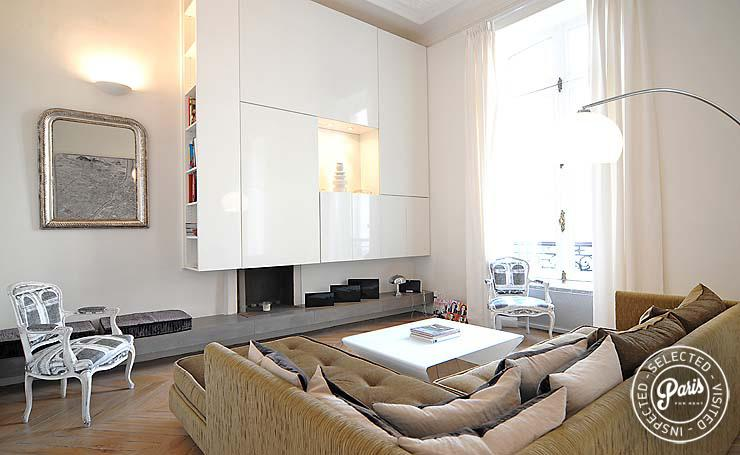 Living room - Champs Elysees - Golden Triangle - Paris - rentals