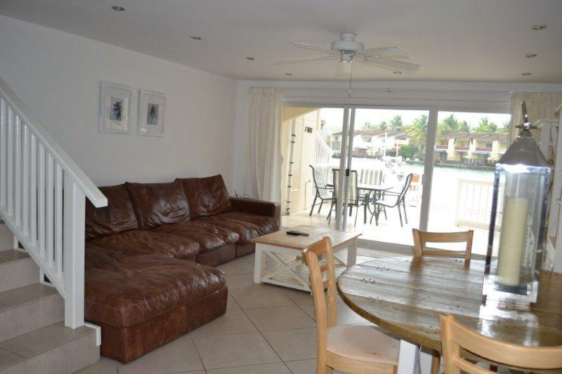 Open plan living area - Luxurious 229D South Finger, Jolly Harbour - Jolly Harbour - rentals