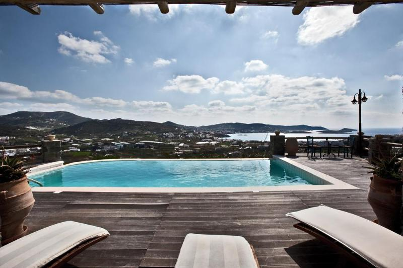 Sunbeds by the pool. - Syros Passion Villa of the Divine Villas - Siros - rentals