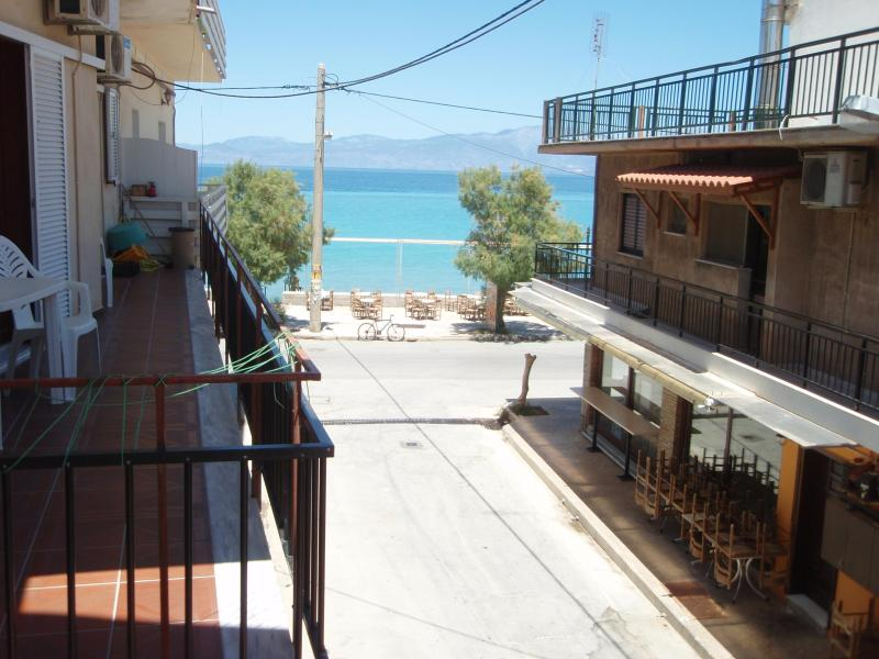 Balcony view - Seaview beach apartment in Korinthia - Xylokastro - rentals