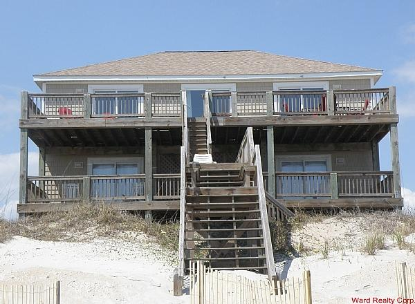 Baby Girl Oceanfront Exterior - Amazing, 5 BR, Oceanfront Home, Incredible Views, Game Room, Elevator - Baby Girl - North Topsail Beach - rentals