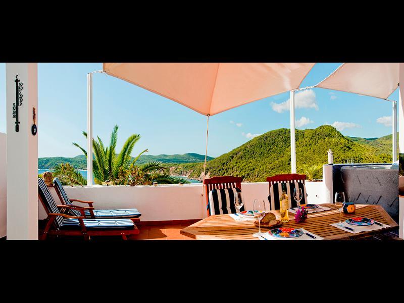 terrace with sea and beach views - Vista la playa, near the beach. - Ibiza - rentals