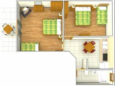 A8(4+1): floor plan - 002A13TUCE  A8(4+1) - Tucepi - Tucepi - rentals