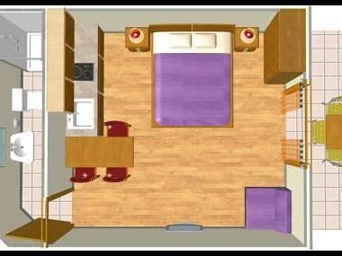 A9(2+1): floor plan - 002A13TUCE  A9(2+1) - Tucepi - Tucepi - rentals