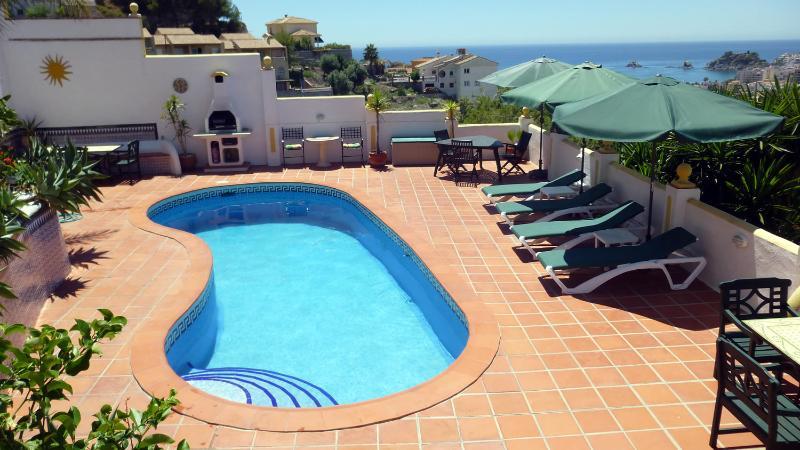 große Poolterrasse - Luxury Apartment El Olivo with fantastic sea views - Almunecar - rentals
