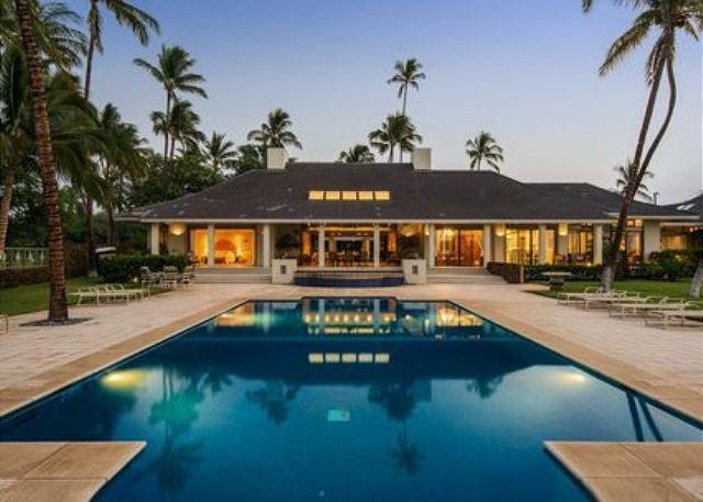 Honuala`i at dusk - Oceanfront and exclusive 6 bedroom Estate near Mauna Kea Beach - Puako - rentals