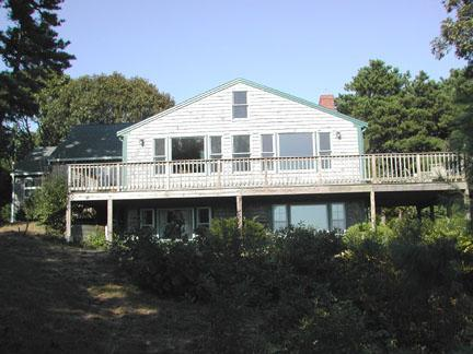 Looking up at Deck / Back of House - South Chatham Cape Cod Waterfront Vacation Rental (4182) - Chatham - rentals