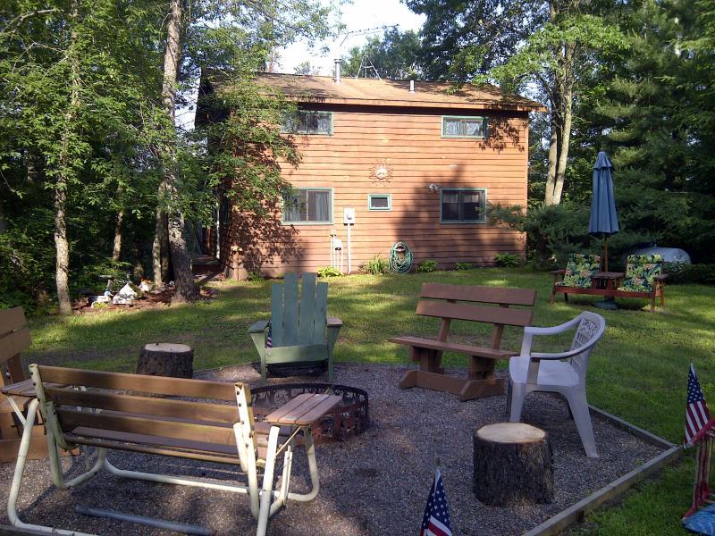 Firepit / backyard - Lake Cottage on Chetek chain of lakes - Chetek - rentals