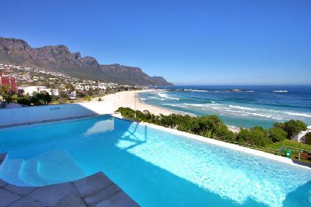 Beach Villa No 1 - Stunning Pool Home with Mountain, Beach and Water Views - Image 1 - Camps Bay - rentals
