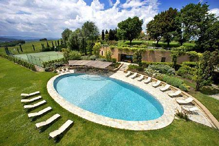 Outstanding Borgo Finocchieto features media and wine tasting room, with staff - Image 1 - Montalcino - rentals