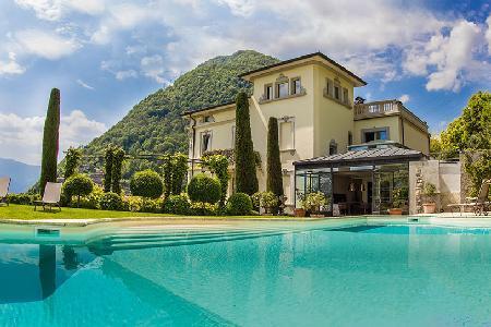 Mountain view Villa Concetta- superb garden, saltwater pool- alfresco shower - Image 1 - Argegno - rentals