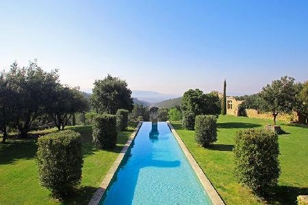 Magnificent 16th-Century Priory in Provencal Countryside with Heated Pool, Tennis Court & Views - Image 1 - Luberon - rentals