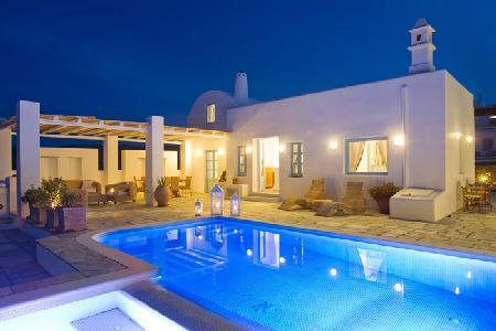 Tramountana - stunning architecture, magnificent views of Aegean Sea, spacious outdoor areas & pool - Image 1 - Santorini - rentals