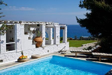 Nestled in a verdant valley, Agia Thalassa with sea views & tranquil pool - Image 1 - Ampelas - rentals