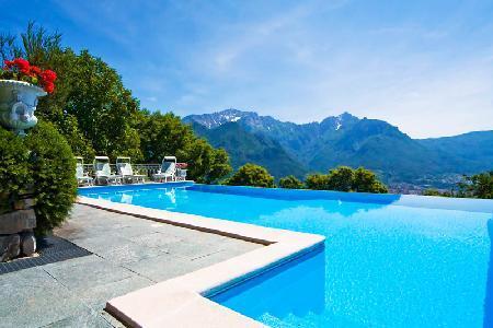 Villa Bellavista with astonishing lake view, infinity pool & central location - Image 1 - Civenna - rentals