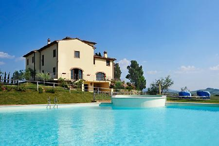 Villa Colle Sereno with beautiful views of the Tuscan countryside, gym and jacuzzi - Image 1 - Montaione - rentals