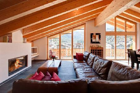 Modern luxury penthouse Zeus with Alpine feel & mountain views only 5 min to ski lifts - Image 1 - Zermatt - rentals