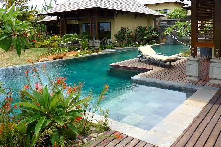Cassiopee 26 on estate with serene pool, golf cart to beach & amenities - Image 1 - Bel Ombre - rentals