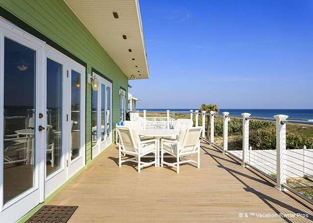 From the huge oceanfront balcony you can see for miles! - Stairway to Heaven, Upper Unit, 2 Bedrooms, Ocean Front - Palm Coast - rentals