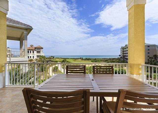 The Atlantic is at your feet from the 3rd-floor balcony! - Atlantic Vista, New Ocean View, 5 Bedrooms, Elevator, Game Room - Palm Coast - rentals