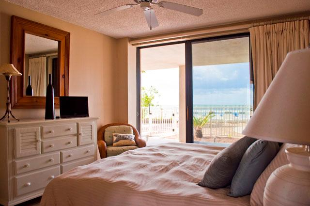Master bedroom for the King and Queen with stunning views - Windward Pointe 101- GROUND FLOOR CONDO! Gulf Front! Sleeps 8 - Orange Beach - rentals