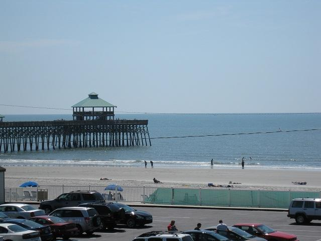 View from balcony - Folly Beach Condo with Unobstucted Ocean Views - Folly Beach - rentals