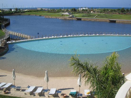 Aerial of Sandy Pool - The Lake Condominium, Algarve - Vilamoura - rentals