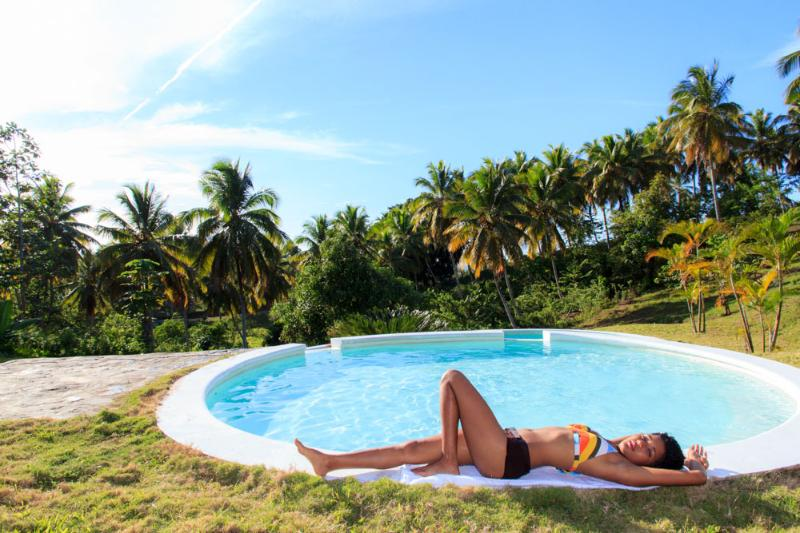 Laying by the pool - Limón Hills - Las Terrenas - rentals