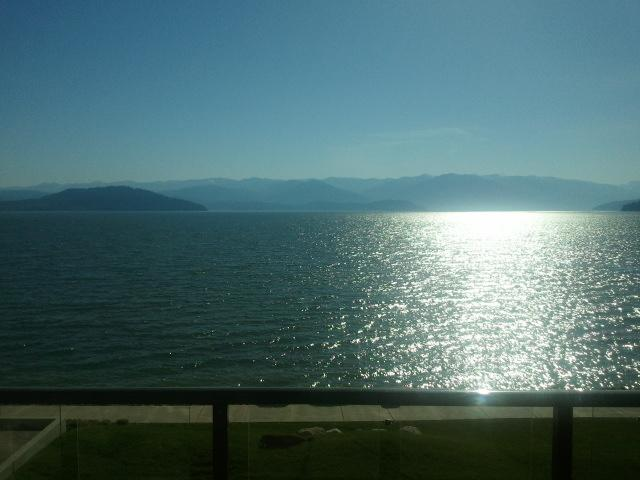 View from the 13 x 13 deck - Seasons Luxury Lakefront Condo - Sandpoint - rentals