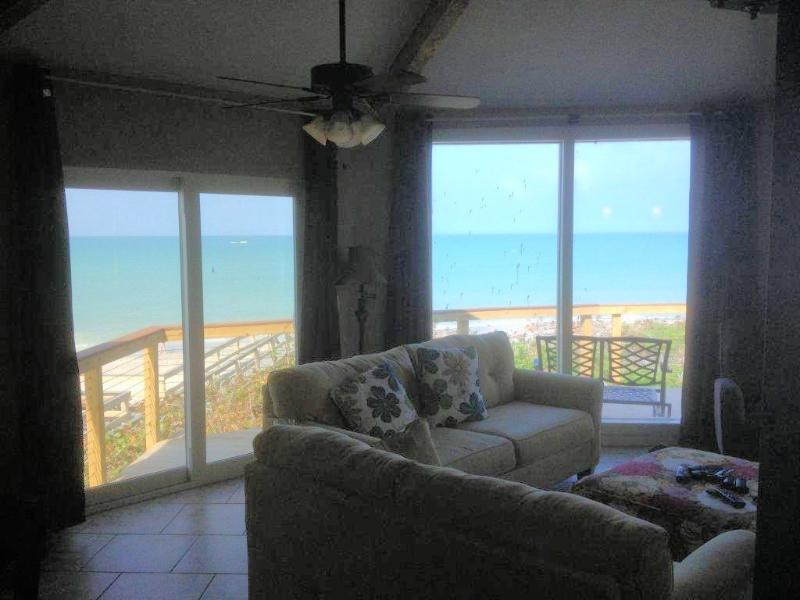 View from the living room - 4BR house directly on the Gulf of Mexico! - Englewood - rentals