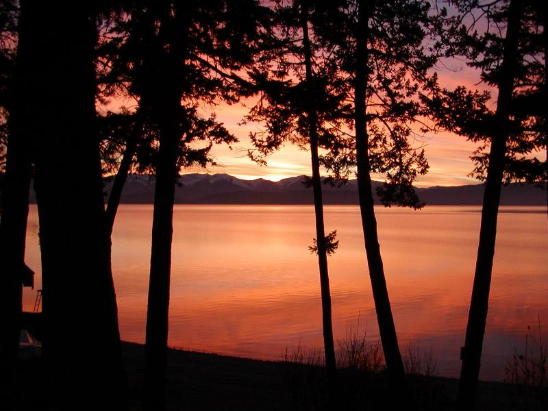 Sunrise over Flathead Lake from home - Juniper Bay Beach Cottage-Flathead Lake Montana - Somers - rentals