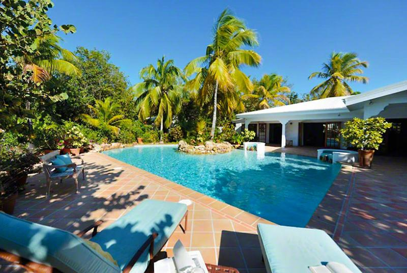 SPECIAL OFFER: St. Martin Villa 86 Located Directly On Plum Bay Beach, This Delightful Villa Offers Tropical Elegance And Spectacular Sunsets. - Image 1 - Terres Basses - rentals