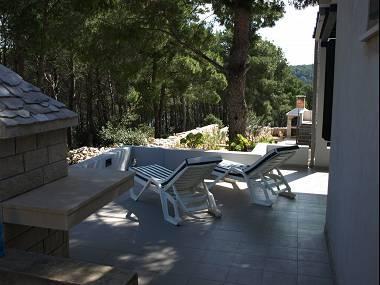 H(2+1): terrace - 7289  H(2+1) - Cove Osibova (Milna) - Cove Osibova (Milna) - rentals