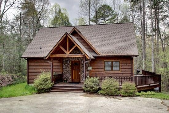 JEWEL OF THE CREEK- 2BR/2BA- PRIVATE DOCK ON FIGHTINGTOWN CREEK, CABIN SLEEPS 7, GAS LOG FIREPLACE, HOT TUB, FIRE PIT, WIFI, CHARCOAL GRILL, AND SMALL PETS WELCOME! STARTING AT $125/NIGHT! - Image 1 - Blue Ridge - rentals