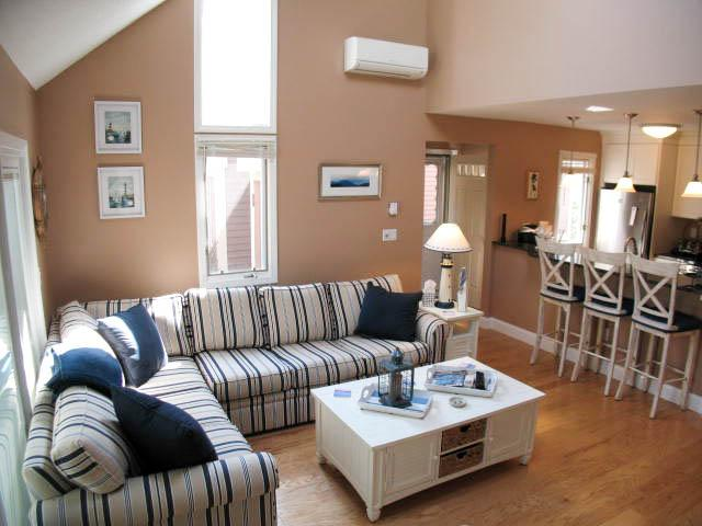 Living Area - Ocean Edge: Renovated, 3 A/C's & Pool (fees apply) - BI0517 - Brewster - rentals