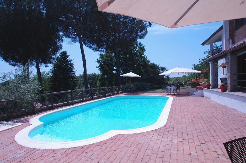 swimming pool and solarium area - Country villa with swimming pool nearby Rome - Manziana - rentals