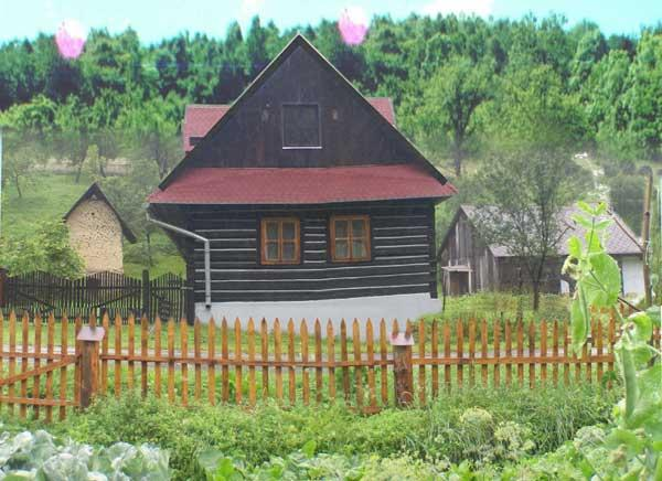 Cottage front, view from the stream - Delightful cottage with wildlife views - Slovakia - rentals