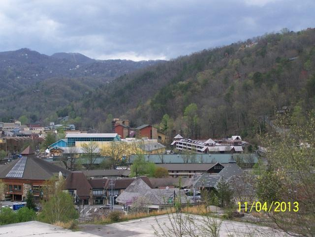 Downtown view from private balcony - #201 Gatlinburg Chateau - 2 Bedroom Condo - Gatlinburg - rentals