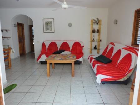 living room - Big apartment in tropical garden with pool - Las Terrenas - rentals