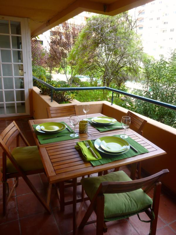 Balcony facing the garden - Great flat in Cascais with pool, squash & bikes - Cascais - rentals