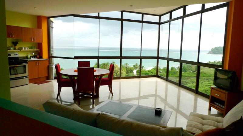 Spectacular 180 degree ocean view when you walk into the condo. - Casa de los Monos Locos Spectacular Ocean Views - Guanacaste - rentals