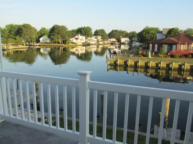 Living room water view upper level - Canal front 5 bdrm retreat 5 min from OCMD beaches - Ocean City - rentals