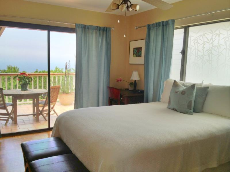 Bedroom view of the lanai - My Little Surf Shack...Kailua Kona Hawaii - Kailua-Kona - rentals