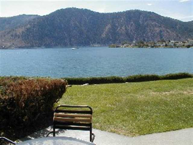 View from huge patio w/ charcoal BBQ - Lake Chelan - Wapato Point Resort  Nekquelekin 435 - Manson - rentals