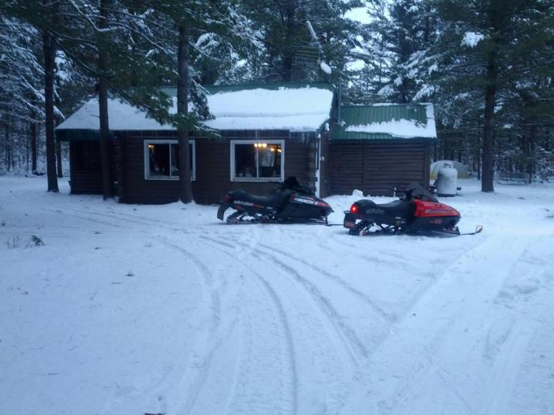 Close to Snowmobile trails - Cabin Fever- Log cabin on 5 wooded acres - Baldwin - rentals