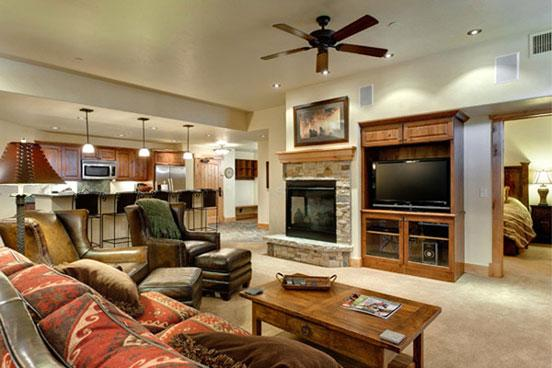 Living Room - Bear Lodge 6101 - 6101 Bear Lodge, Trappeurs - Steamboat Springs - rentals
