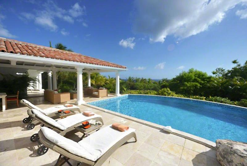 St. Martin Villa 95 A Wonderful Honeymoon Or Other Special Occasion Villa Located On The Hillside In Terres Basses Offering Great Views Of The Sea. - Image 1 - Terres Basses - rentals