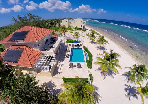 Aerial looking toward the east - Luxury Beachfront Villa w/ Pool 4BR In Harmony - Bodden Town - rentals