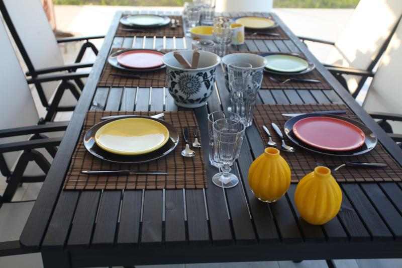 outside dinning table - House in chalkidikI - Pefkohori - rentals