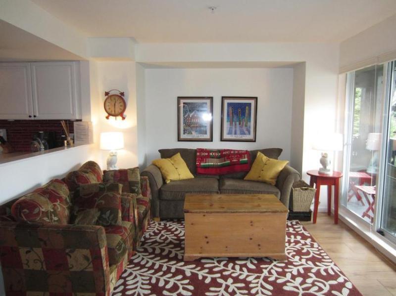 Designer-renovated living room. - Whistler Lagoons Mountain View - Whistler - rentals